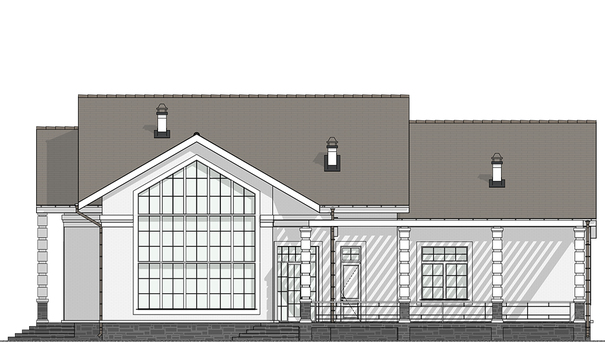 Проект дома 4m555 фасад