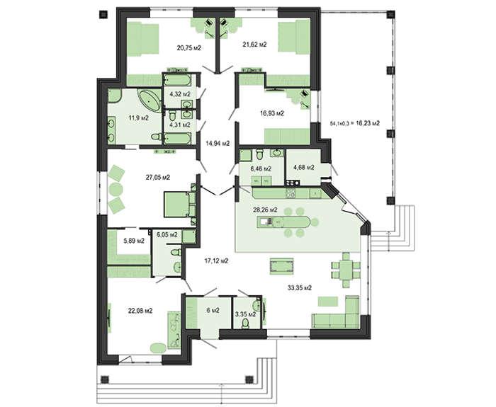 Проект дома 4m555 план