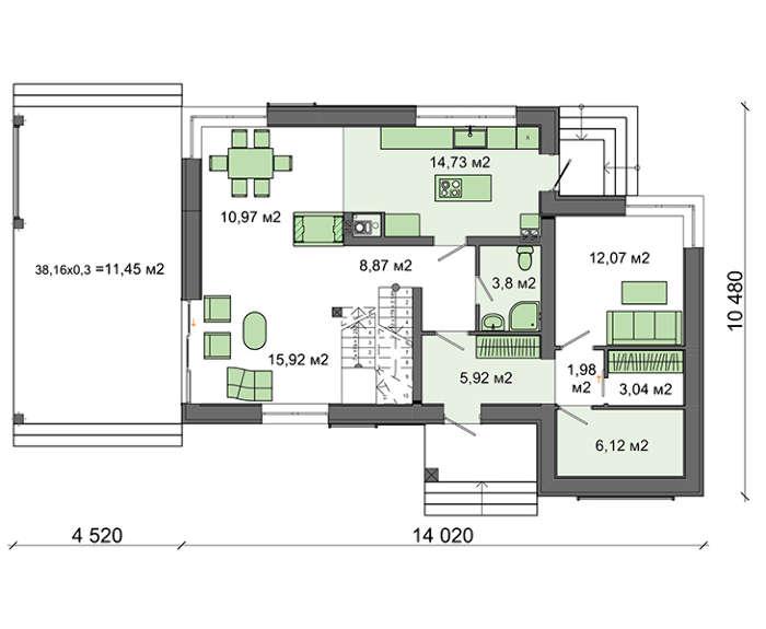 Проект дома 4m561 план