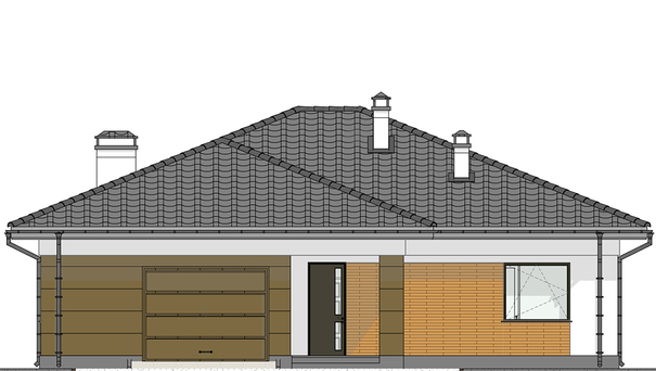 Проект дома 4m563 фасад