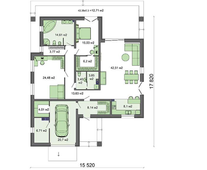 Проект дома 4m563 план
