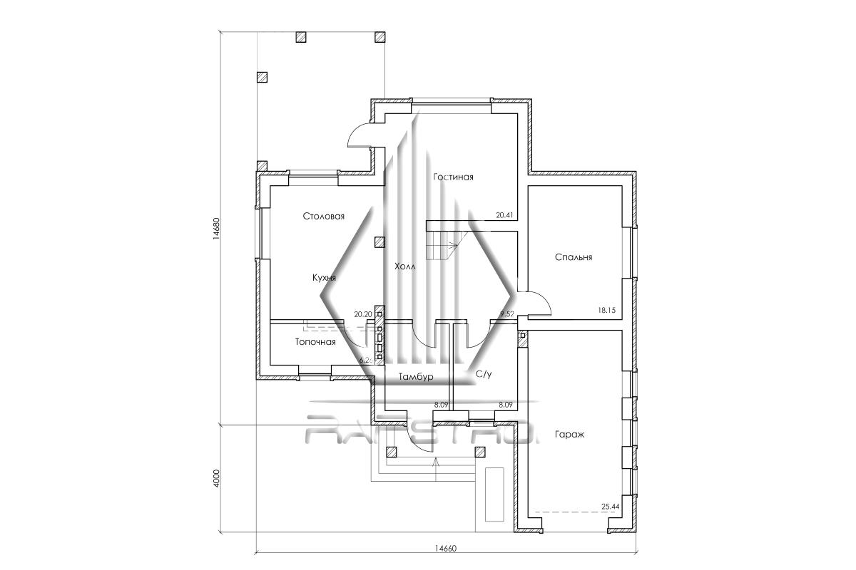 RF-30105. Проект дома  план