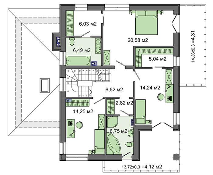 Проект дома 4m565 план