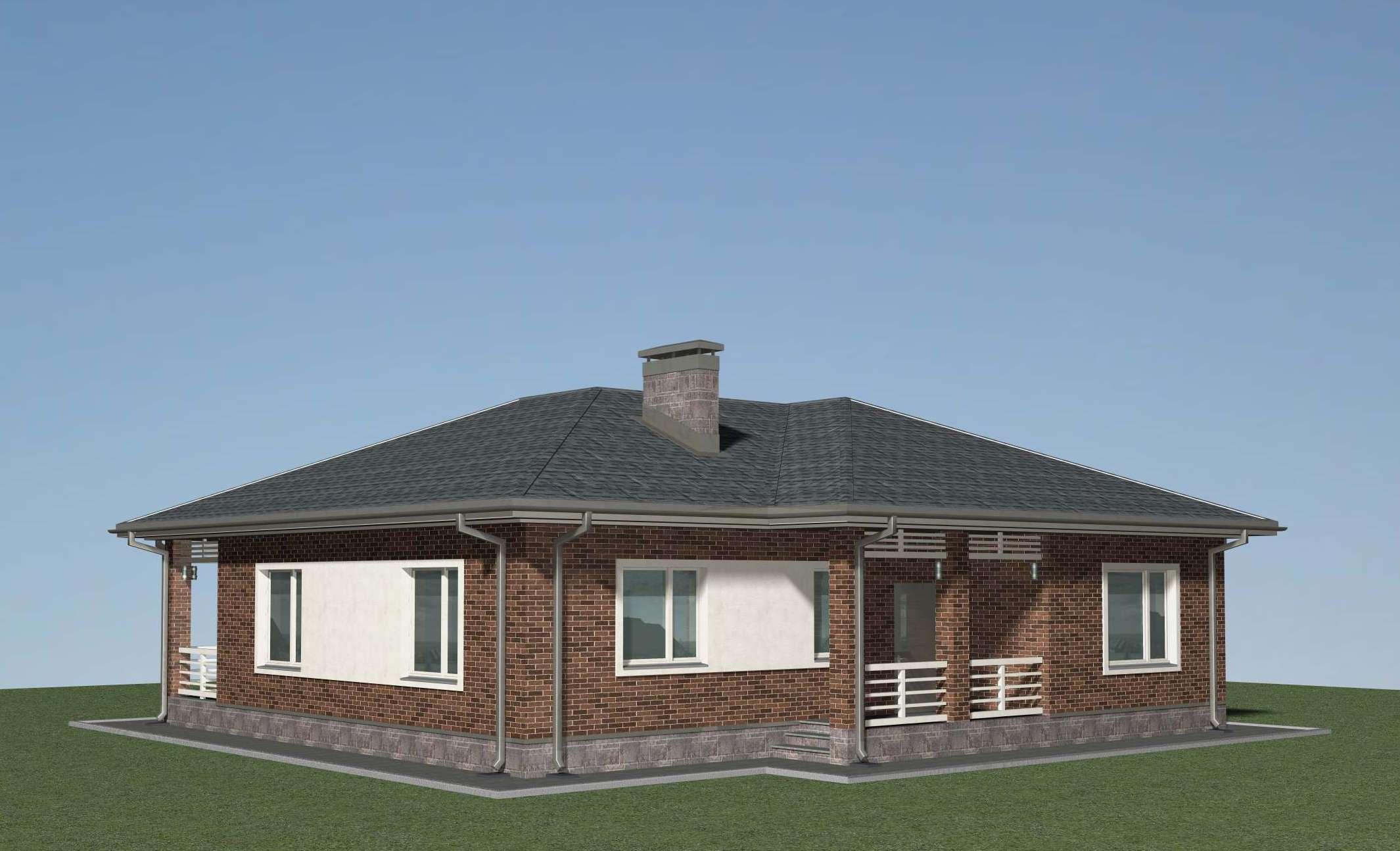 Проект одноэтажного дома  Б-05-17 фасад
