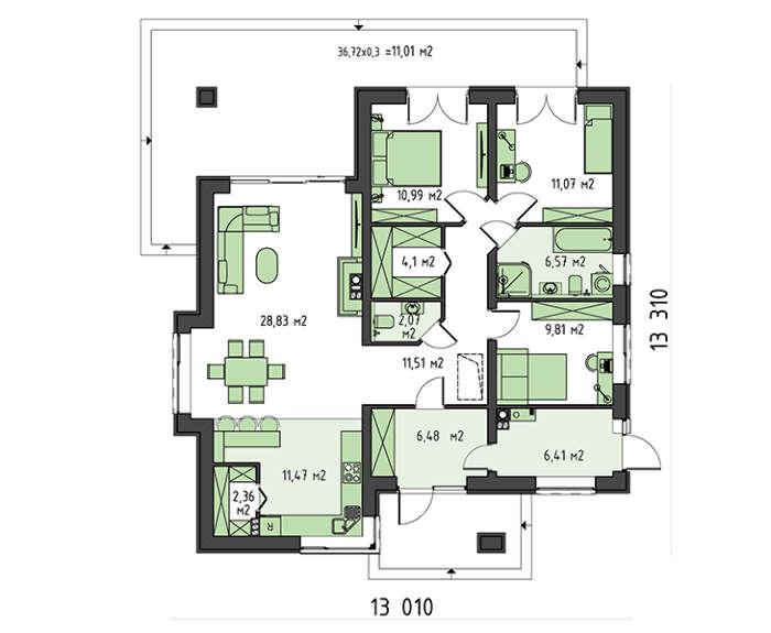 Проект дома 4m789 план
