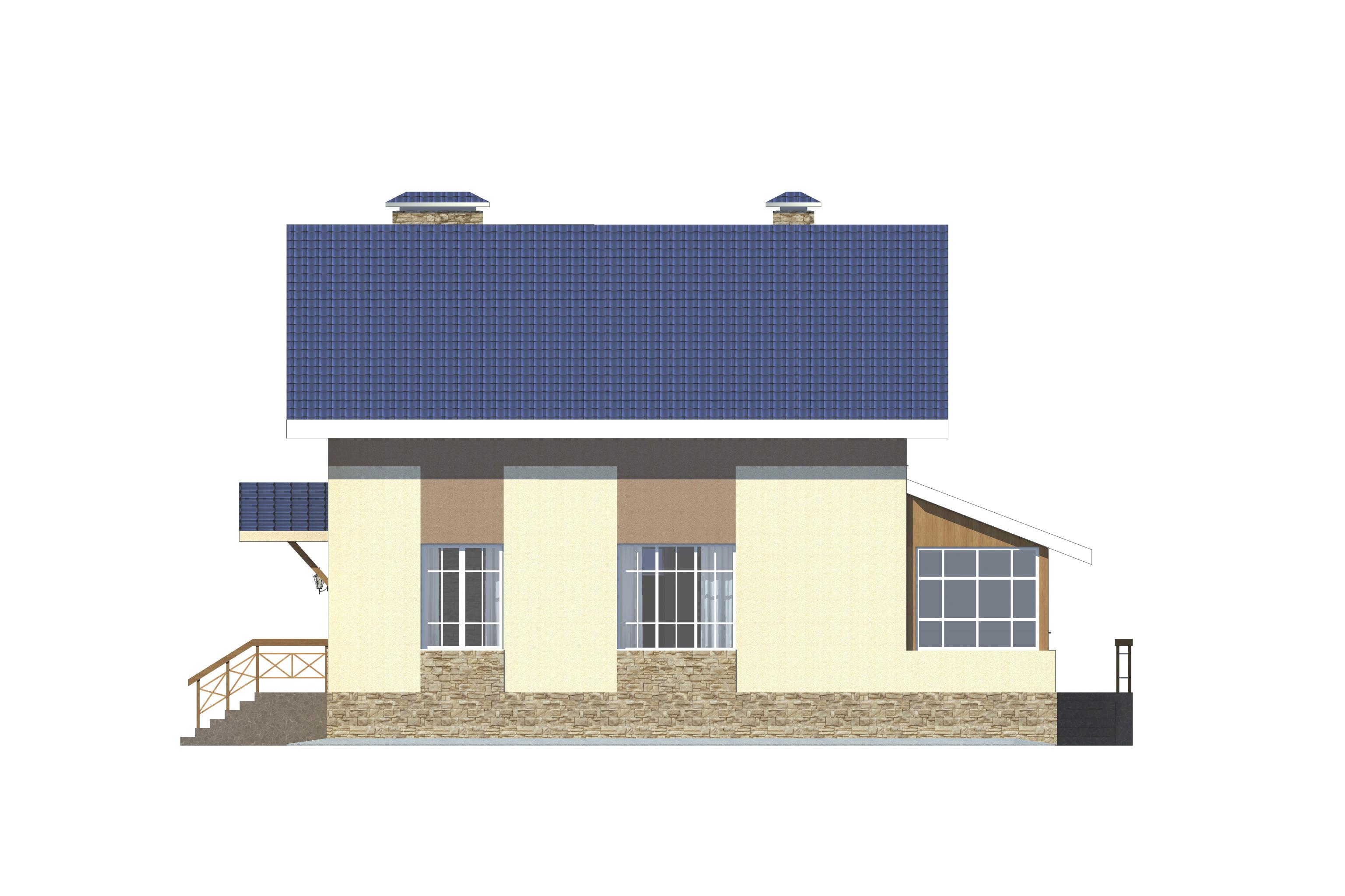 Готовый проект коттеджа 125 м2 / Артикул Э-56 фасад