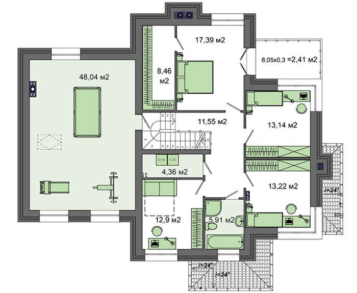 Проект дома 4m577 план