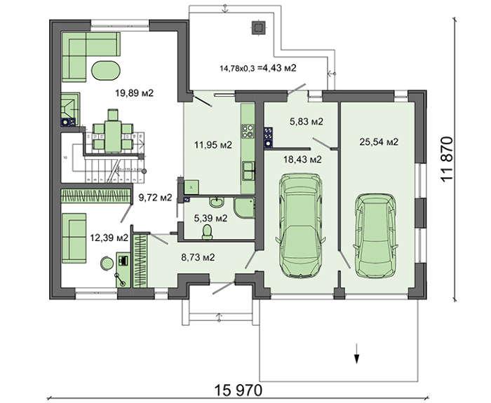 Проект дома 4m575 план