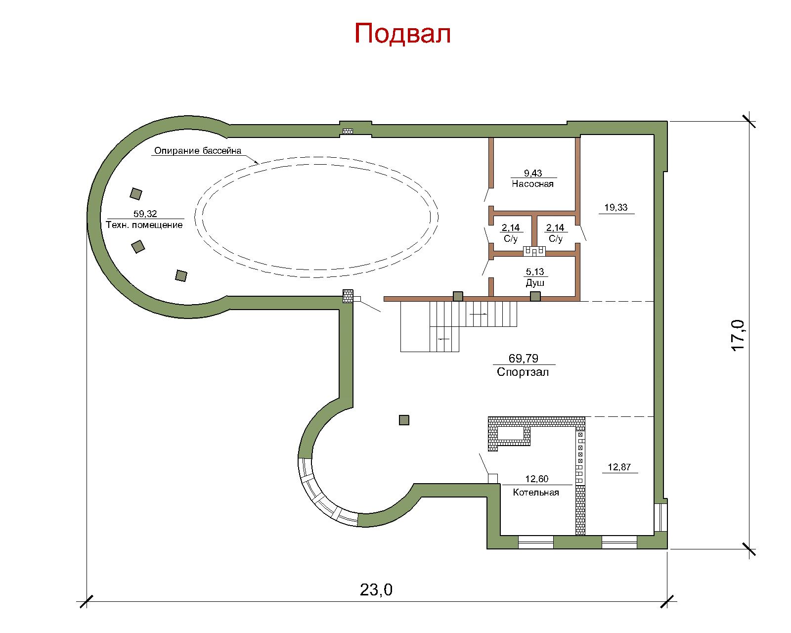 """Проект коттеджа """"Граф Д."""" // Жилая площ. 246 кв.м план"""