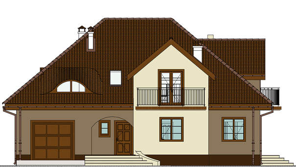 Проект дома 4m710 фасад