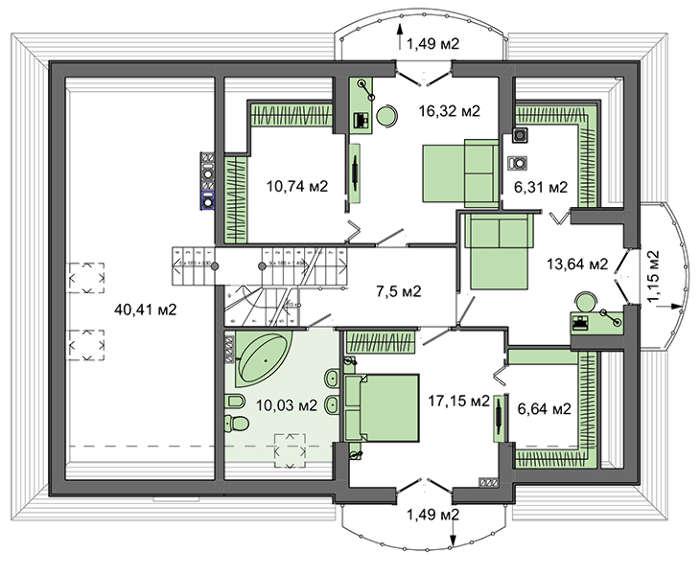 Проект дома 4m710 план