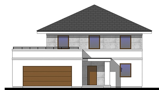 Проект дома 4m778 фасад