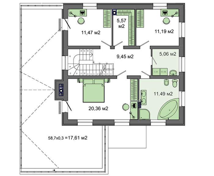 Проект дома 4m778 план