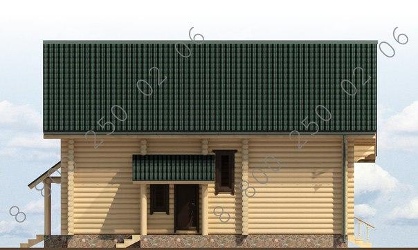 """рубленый дом """"Эльбрус"""" фасад"""