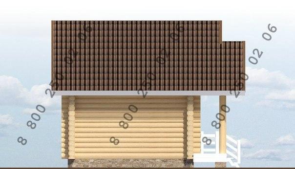 "рубленый дом ""Ульген"" фасад"