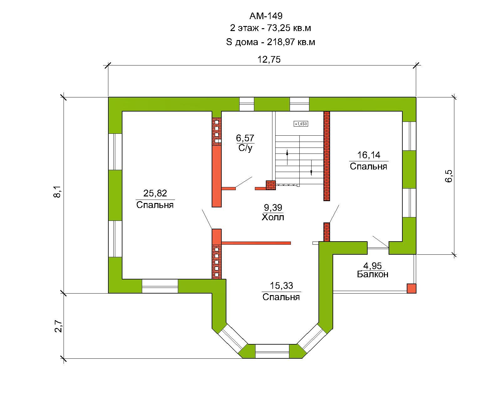 Готовый проект дома 218 кв.м // Артикул АМ-149 план