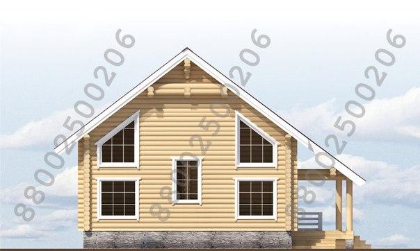 "Рубленый дом ""Таганай"" фасад"