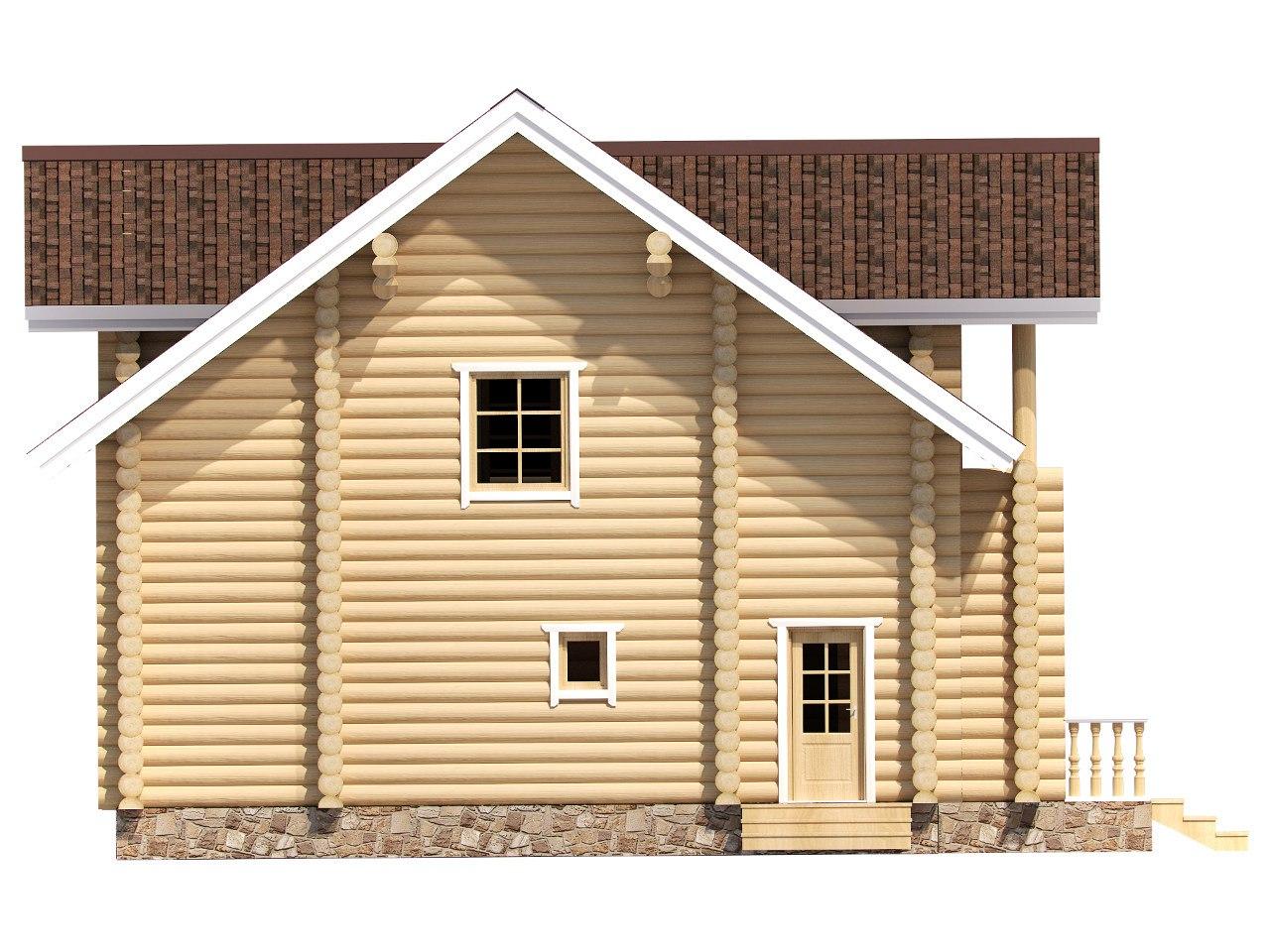 рубленый дом Эверест фасад
