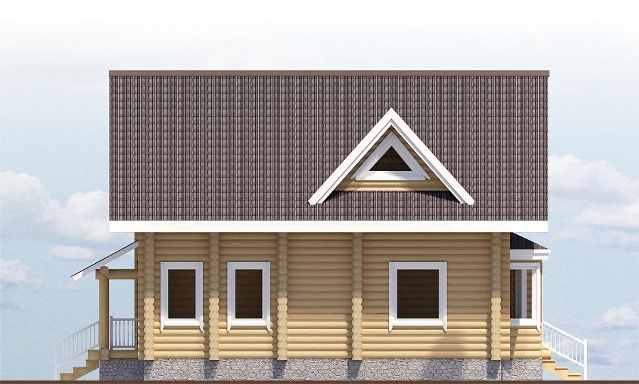 рубленый дом Загрос фасад