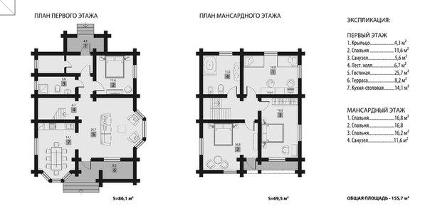 рубленый дом Загрос план