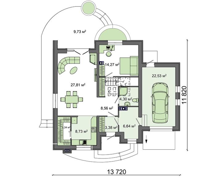Проект дома 4m401 план