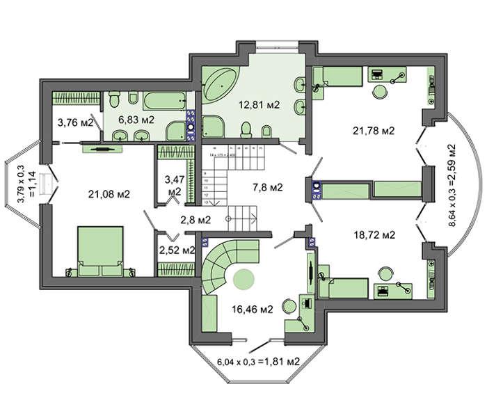 Проект дома 4m3241a план