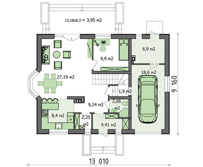 Проект дома 4m3516 план