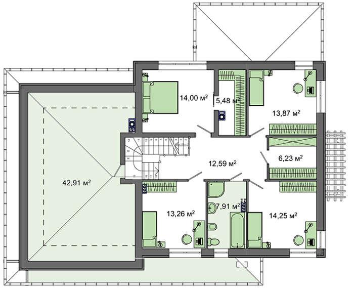Проект дома 4m385 план