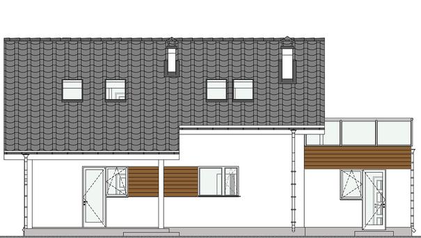 Проект дома 4m571 фасад