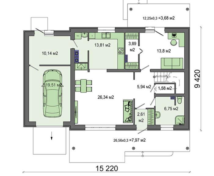 Проект дома 4m571 план