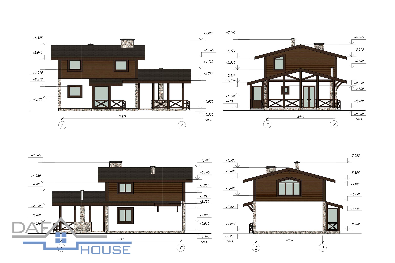 Проект В5252 фасад