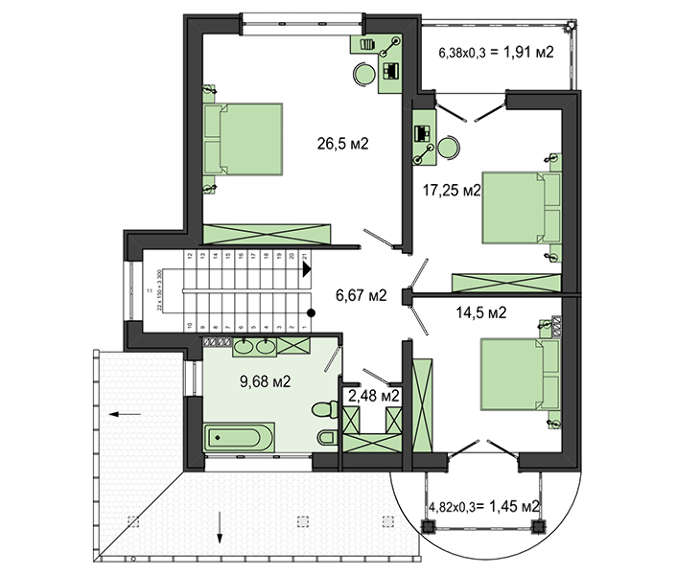 Проект дома 4m821 план