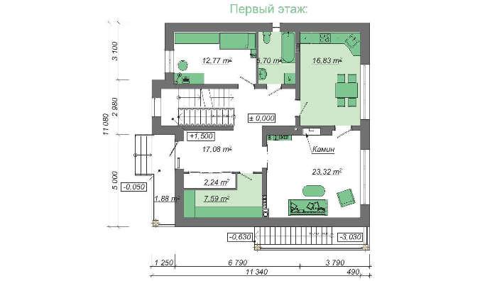 Проект дома 4m712 план