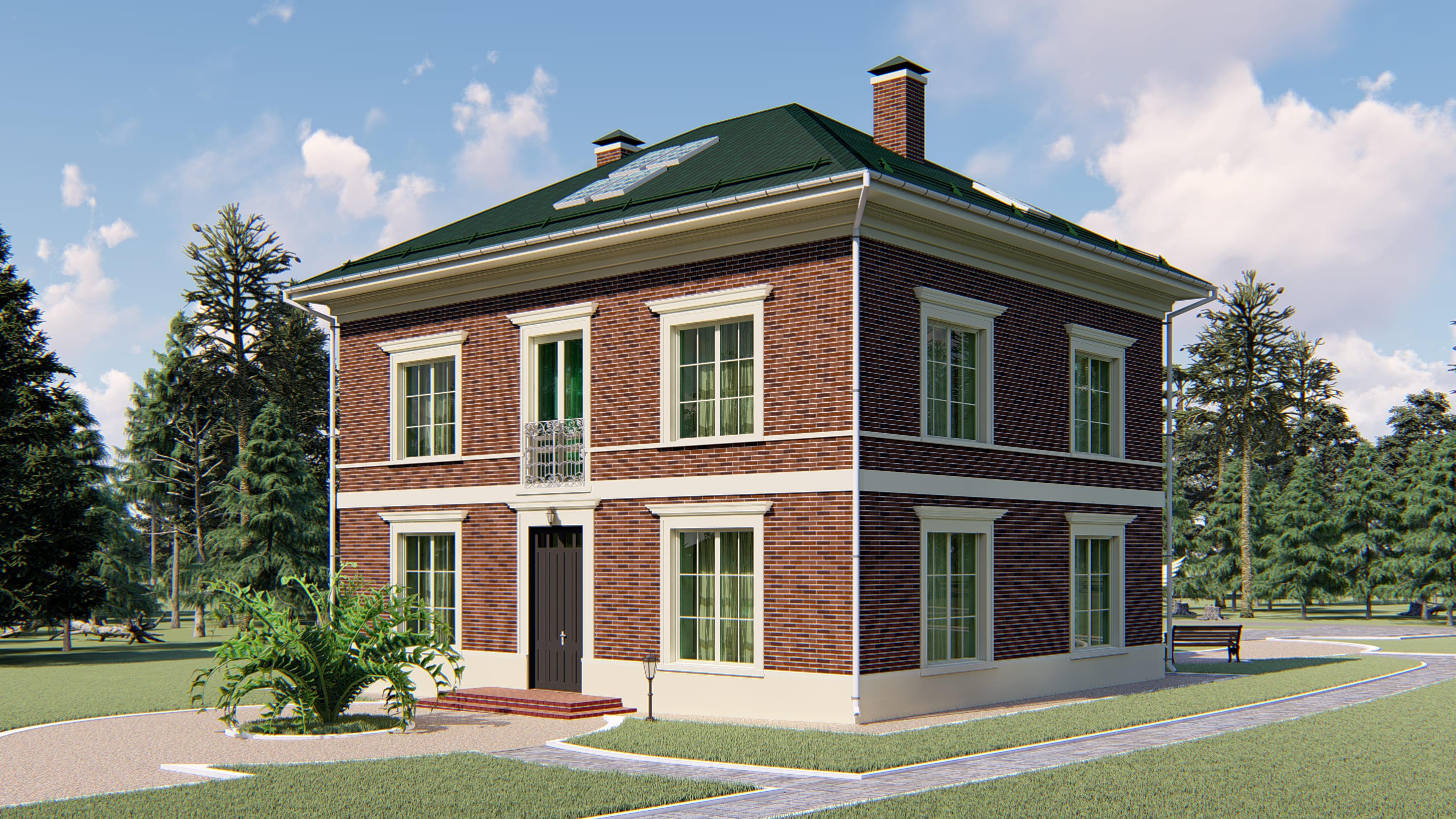 Проект загородного дома 04.18 фасад