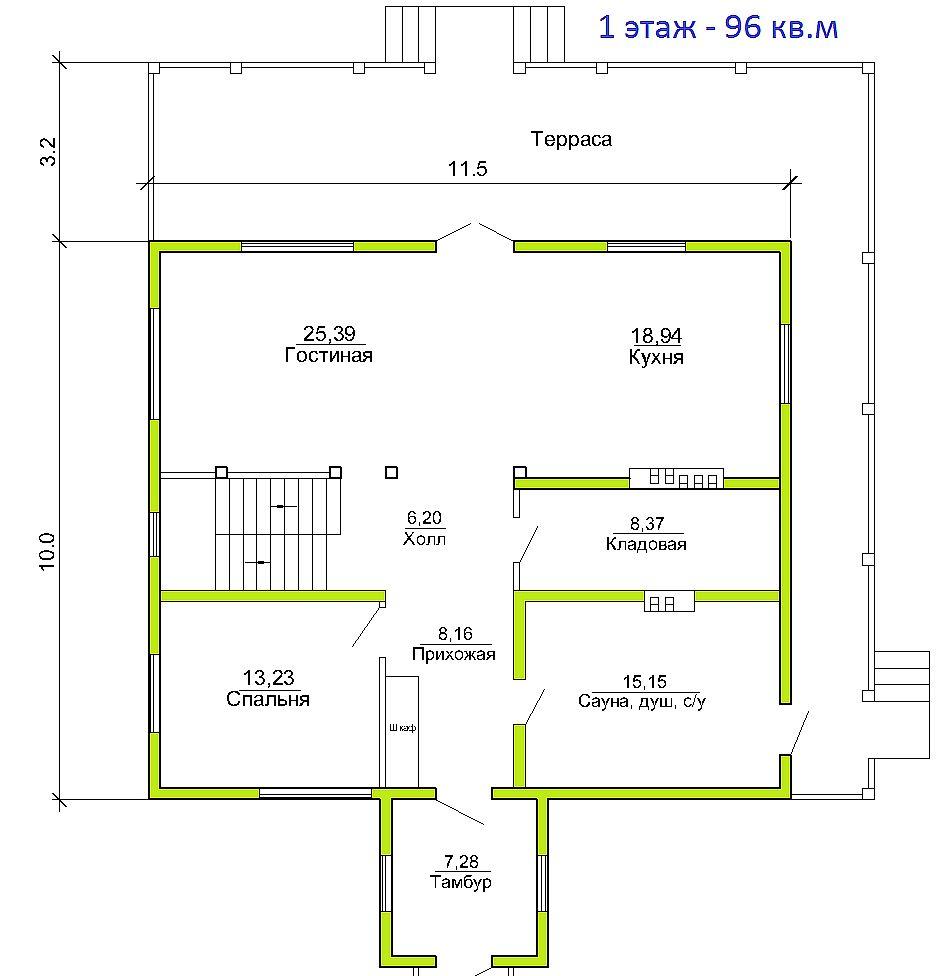 Готовый проект дома 193 кв.м // Артикул ПГЕ-150 план
