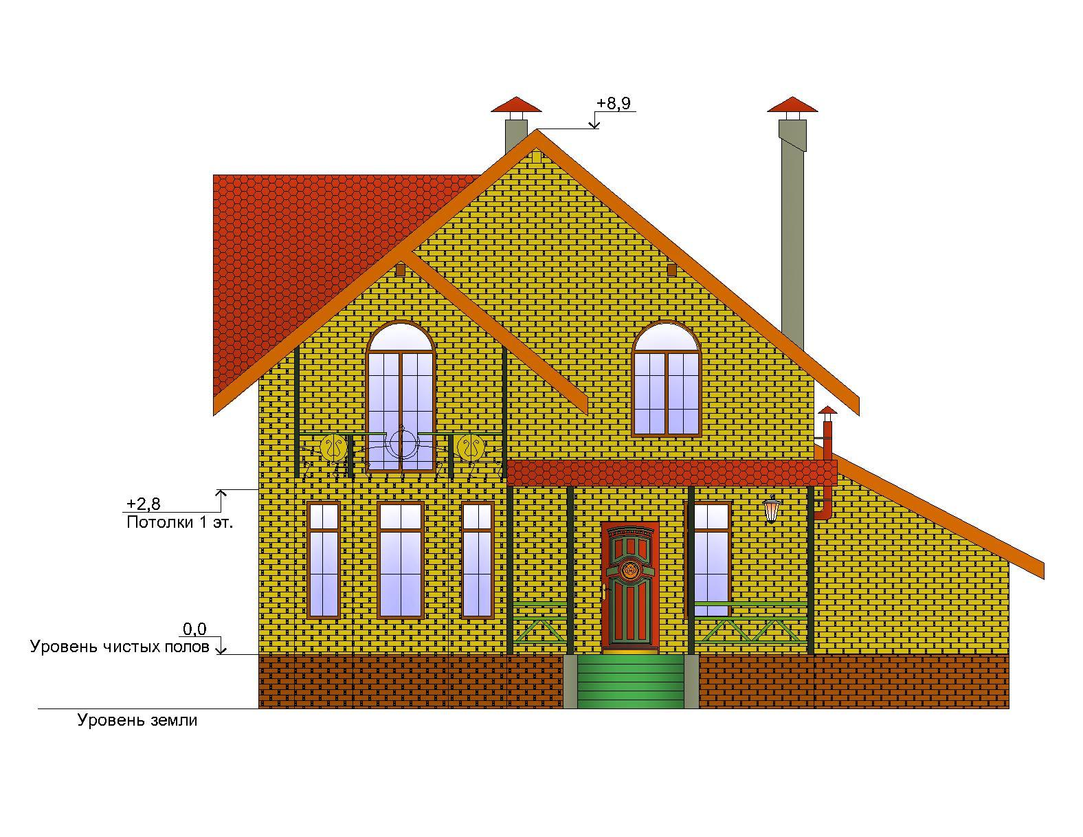 Готовый проект дома 139 кв.м // Артикул ОК-152 фасад