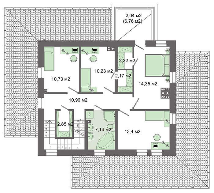 Проект дома 4m6218a план