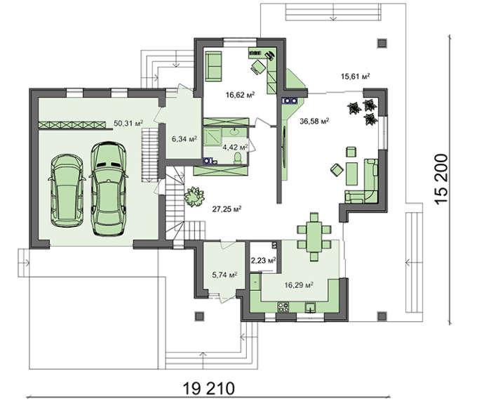 Проект дома 4m1638 план