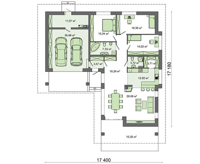 Проект дома 4m585 план