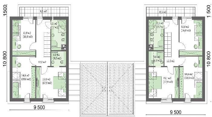 Проект дома 4m715 план