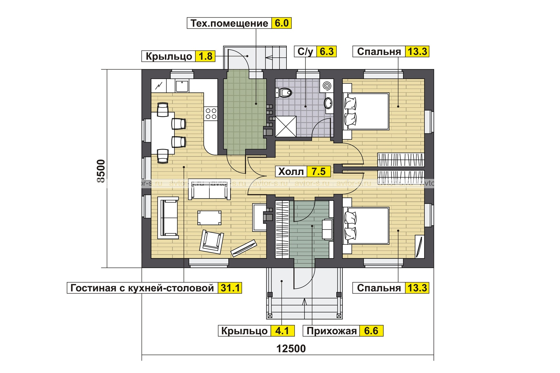 AV318 план
