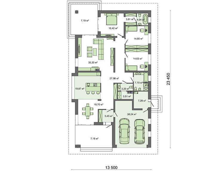 Проект дома 4m583 план
