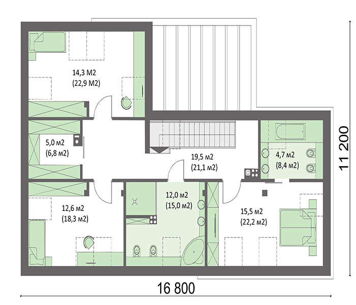 Проект дома 4m716 план