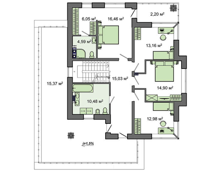 Проект дома 4m797 план