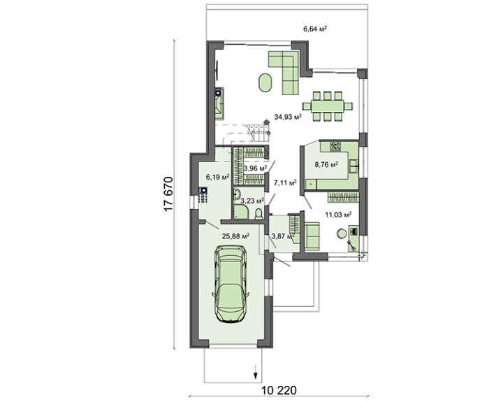 Проект дома 4m782 план