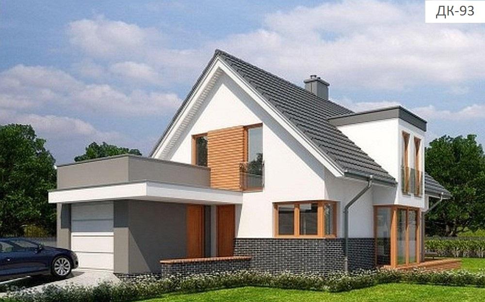 Готовый проект коттеджа 217 кв. м / Артикул DK-93 фасад