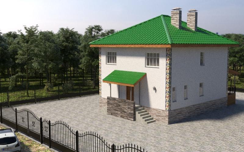 Готовый проект коттеджа 166 м2 / Артикул Вит-95 план