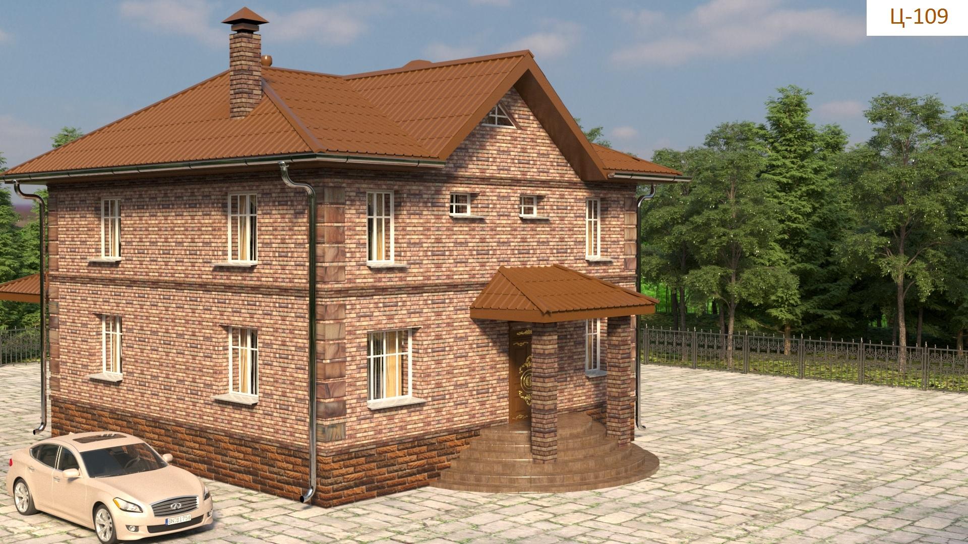 Готовый проект дома - 150 кв. м / Артикул Ц-109 фасад