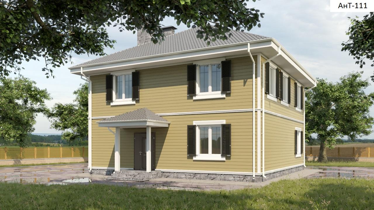 Проект дома 160 кв.м / Артикул АНТ-111 фасад
