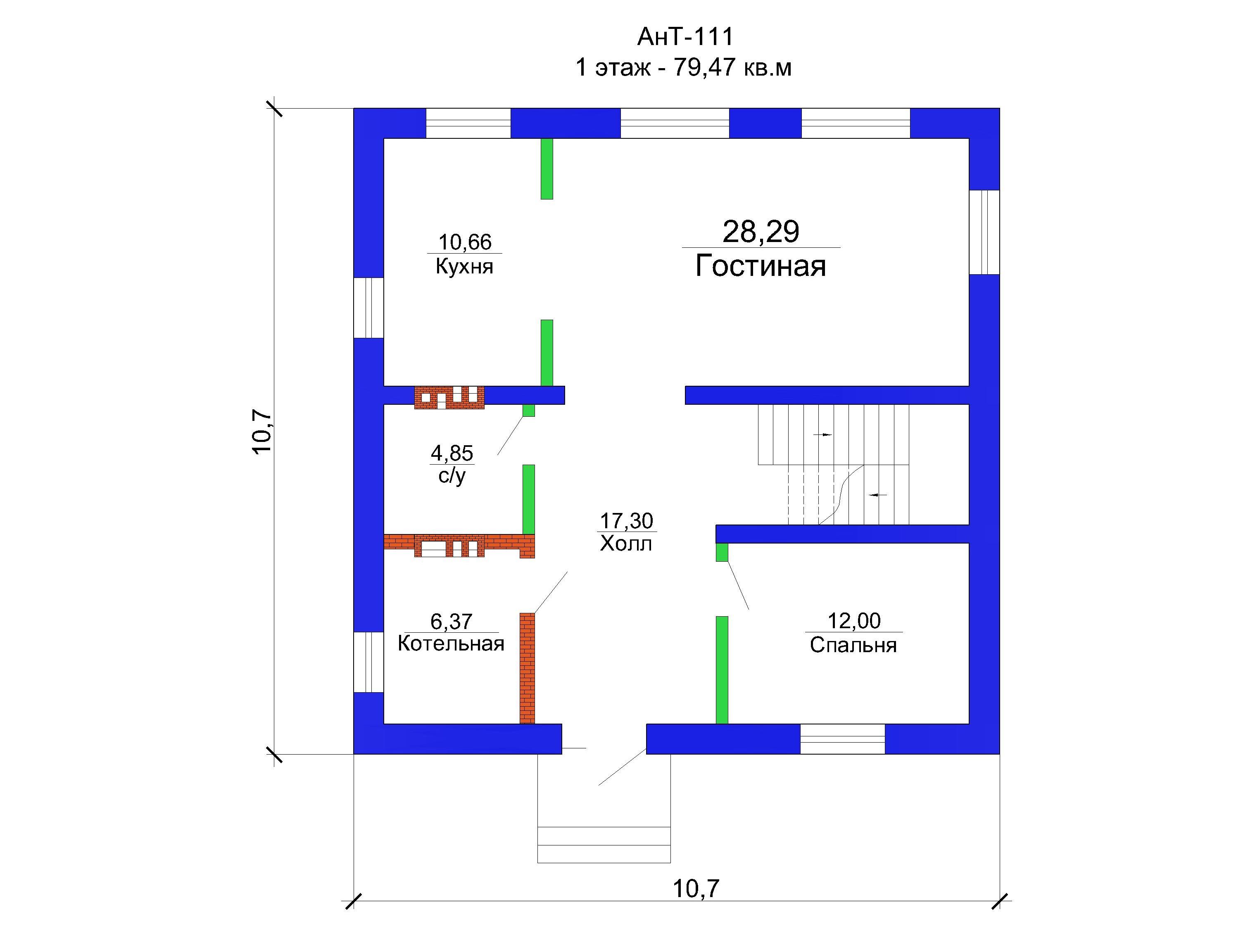 Проект дома 160 кв.м / Артикул АНТ-111 план